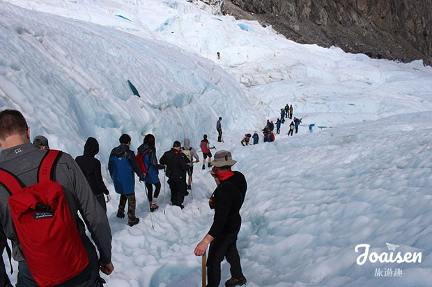冰河健行回程
