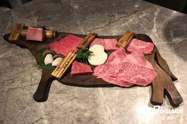 本次燒肉所用的牛肉