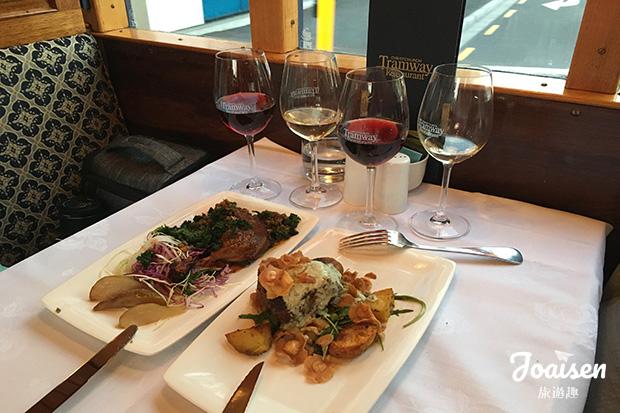 【紐西蘭坎特伯雷】基督城邊跑邊吃!鐵軌餐廳Christchurch Tramway特殊用餐體驗!